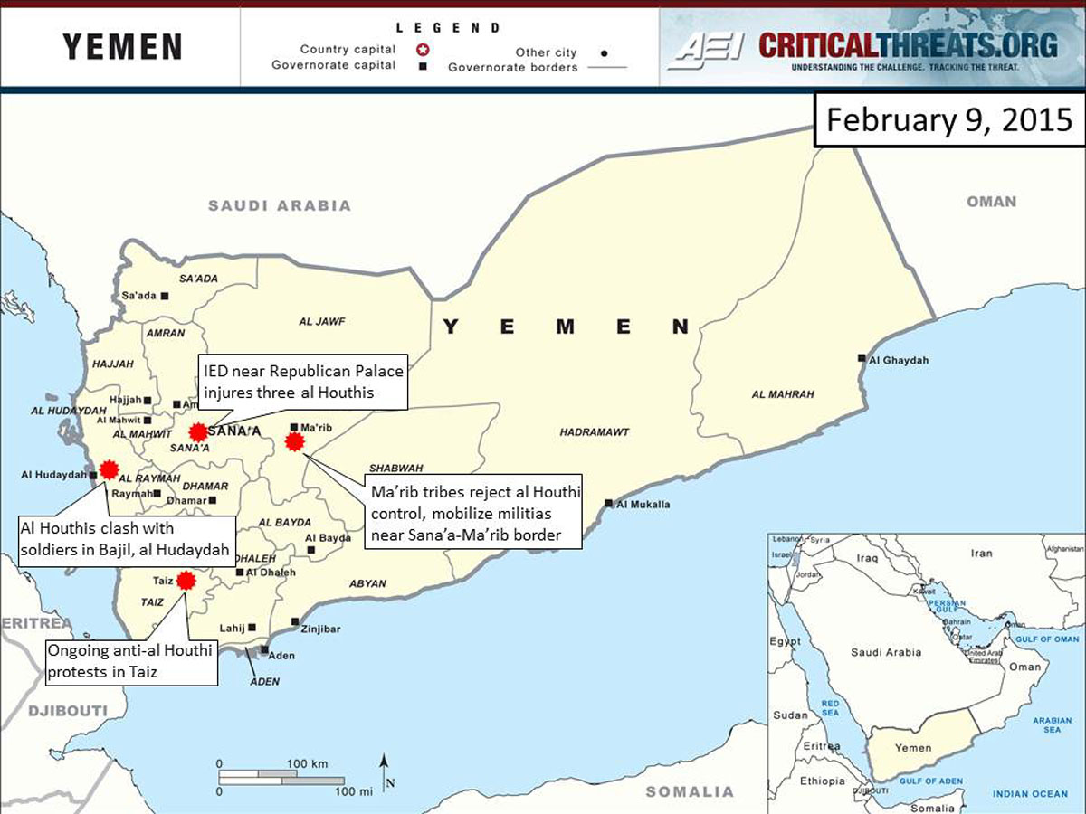 2015 Yemen Crisis Situation Report February 9 Critical Threats
