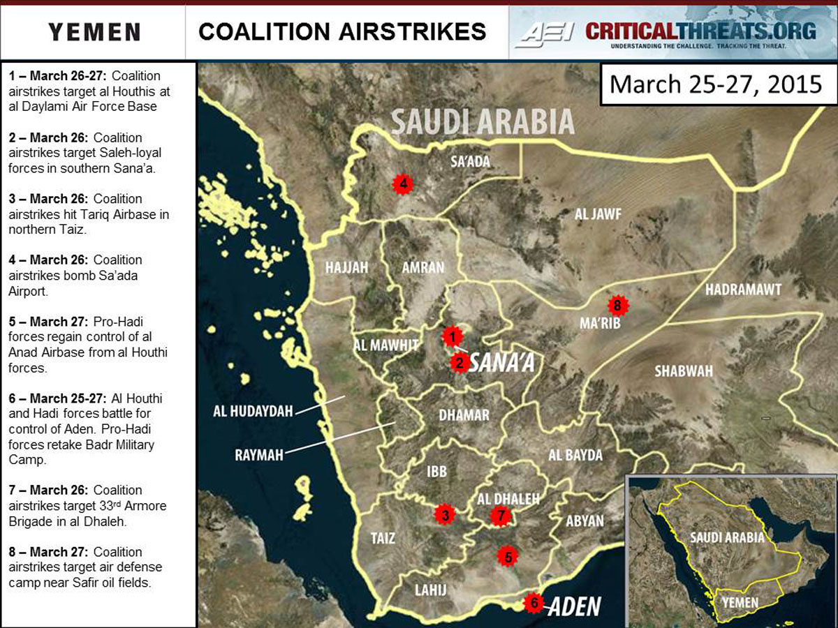 2015 Yemen Crisis Situation Report March 27  Critical Threats