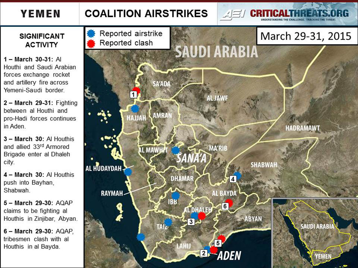 2015 Yemen Crisis Situation Report April 1 Critical Threats