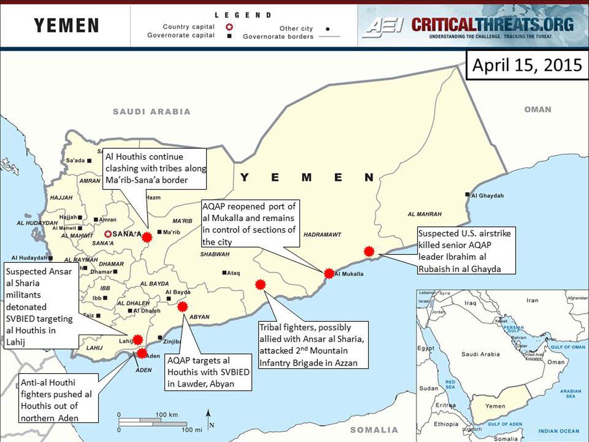 2015 Yemen Crisis Situation Report April 15  Critical Threats