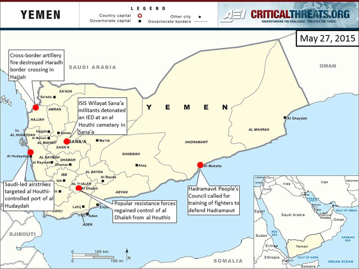 2015 Yemen Crisis Situation Report May 27  Critical Threats
