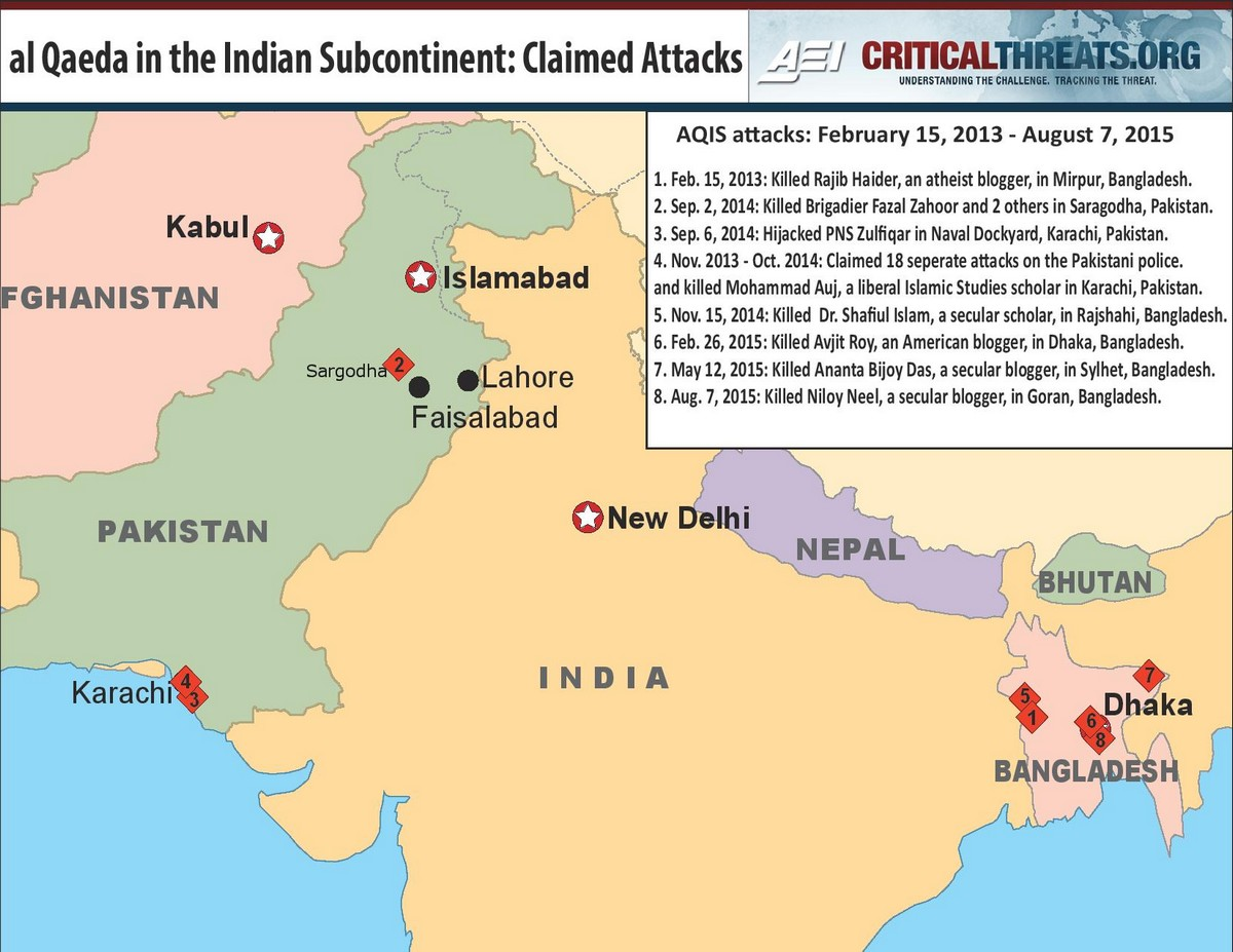 Al qaeda in the indian subcontinent almost forgotten critical threats click to enlarge map gumiabroncs Gallery