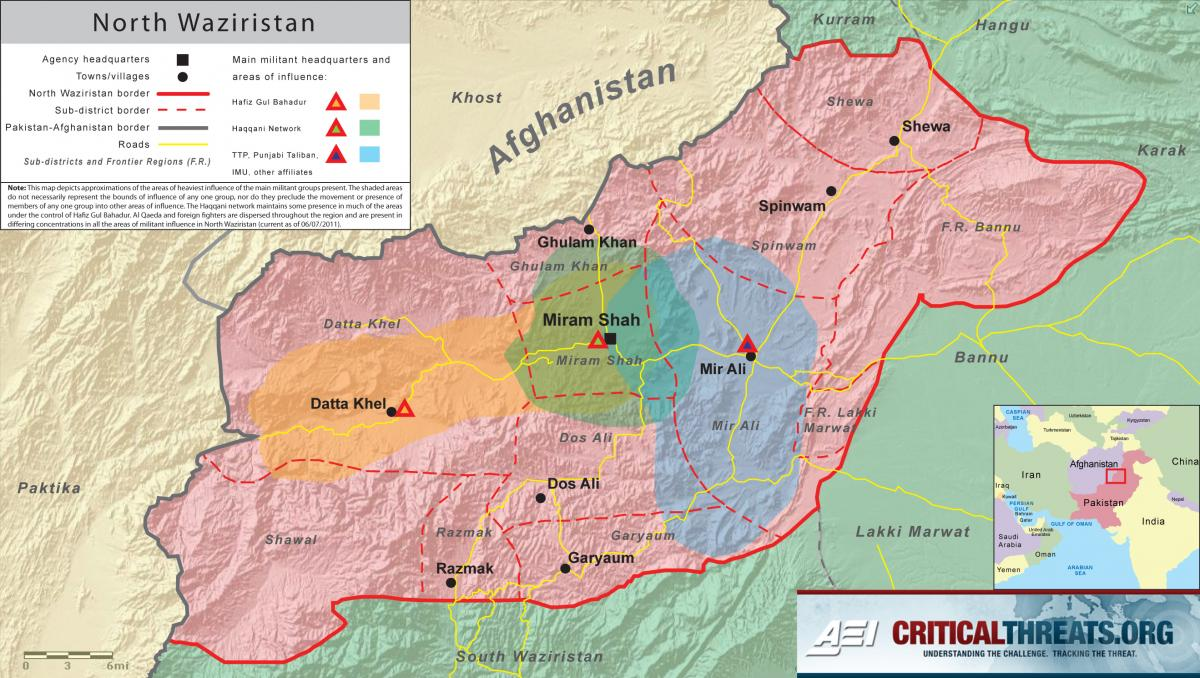 North Waziristan Map   Critical Threats
