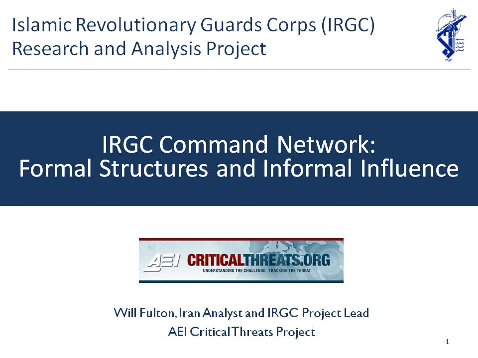Irgc Command Network: Formal Structures And Informal