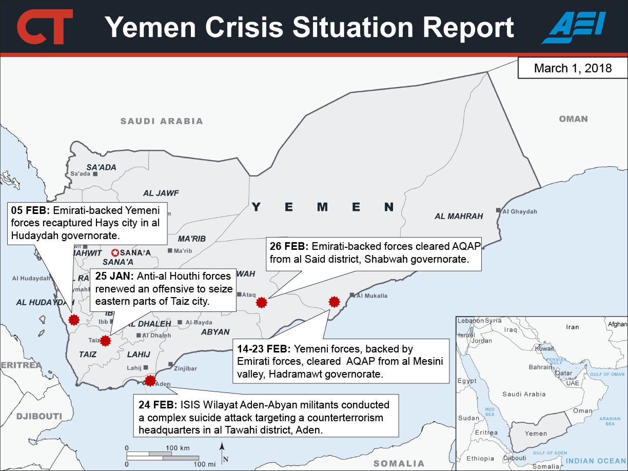 2018 Yemen Crisis Situation Report: March 1 | Critical Threats
