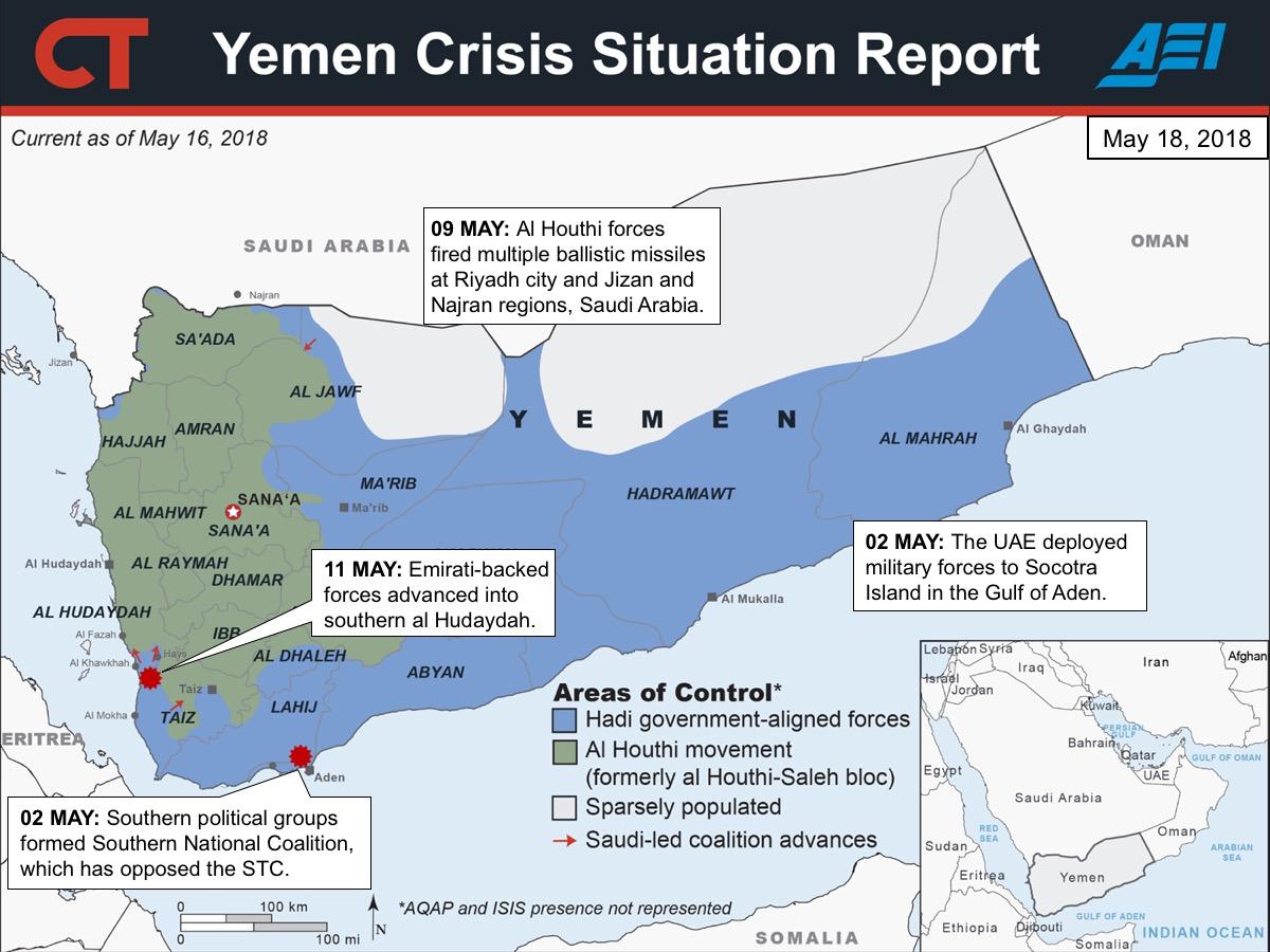 2018 05 18 yemen sitrep map