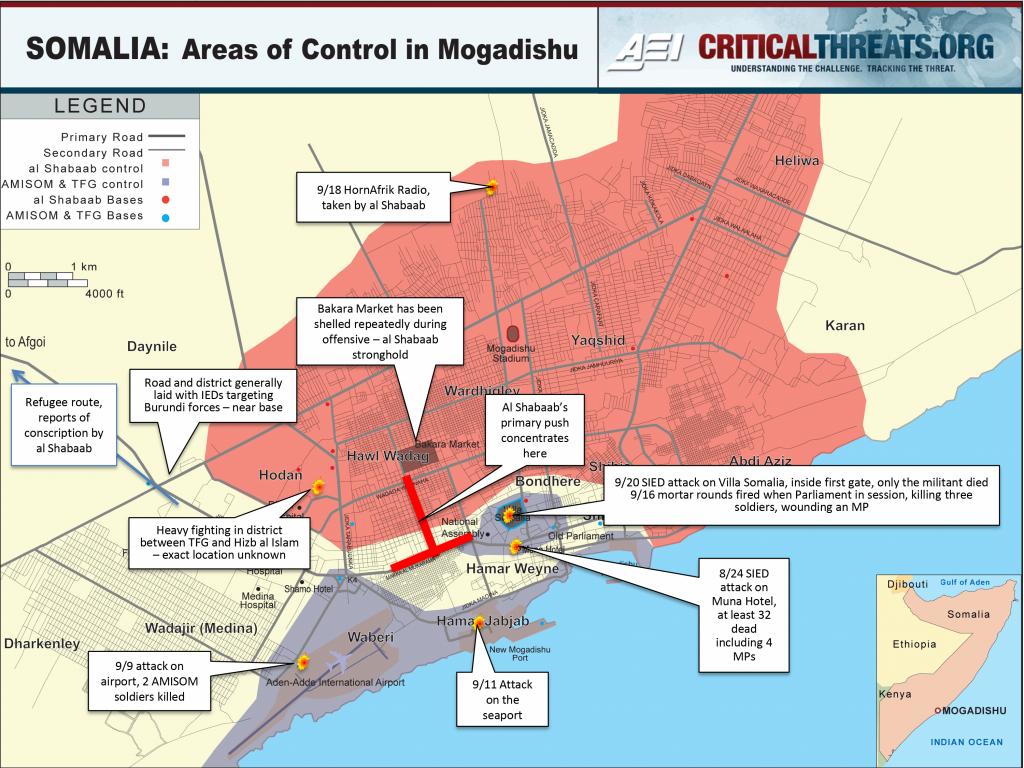 Mogadishu Map: Areas Of Control | Critical Threats
